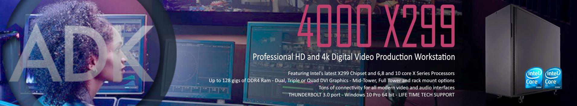 Powerhouse HD, 4k, Motion Graphics Digital Video Workstation. Based on Intel's latest x299 chipset